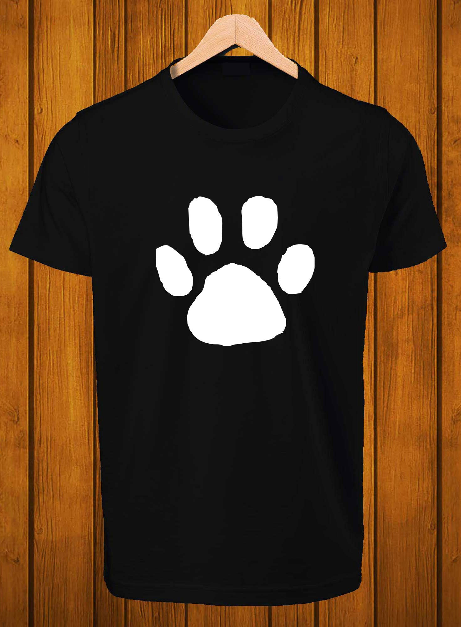 T-Shirt Swag Panda footprint Printed Graphic T-Shirt