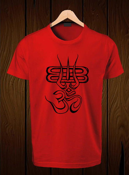 T-Shirt Swag Om Shiva Printed Graphic red T-Shirt