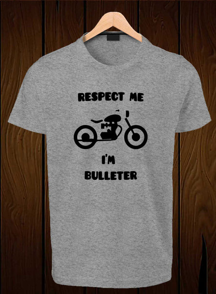 T-Shirt Swag Respect me I'M Bulleter Printed Graphic T-Shirt