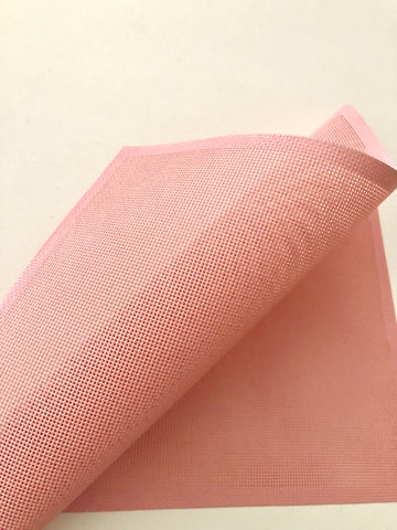 Pink perforated silicone mat