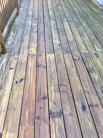 Deck after stain with Sherwin Williams Super Deck