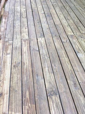 After cleaning the wood deck