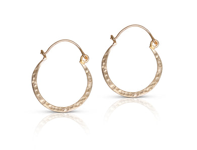 Annie SM gold hoop earrings