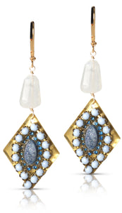 Bessie blue and moonstone earring