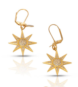 Gold Star Earring