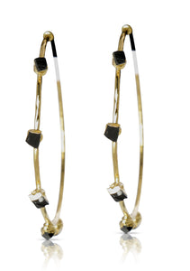 Harlene Black Tourmaline Earrings