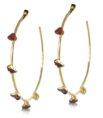 Harlene Garnet Earrings
