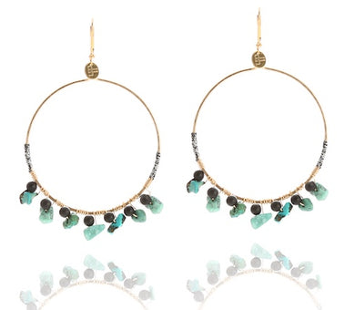 Preston GF Turquoise and Onyx earring
