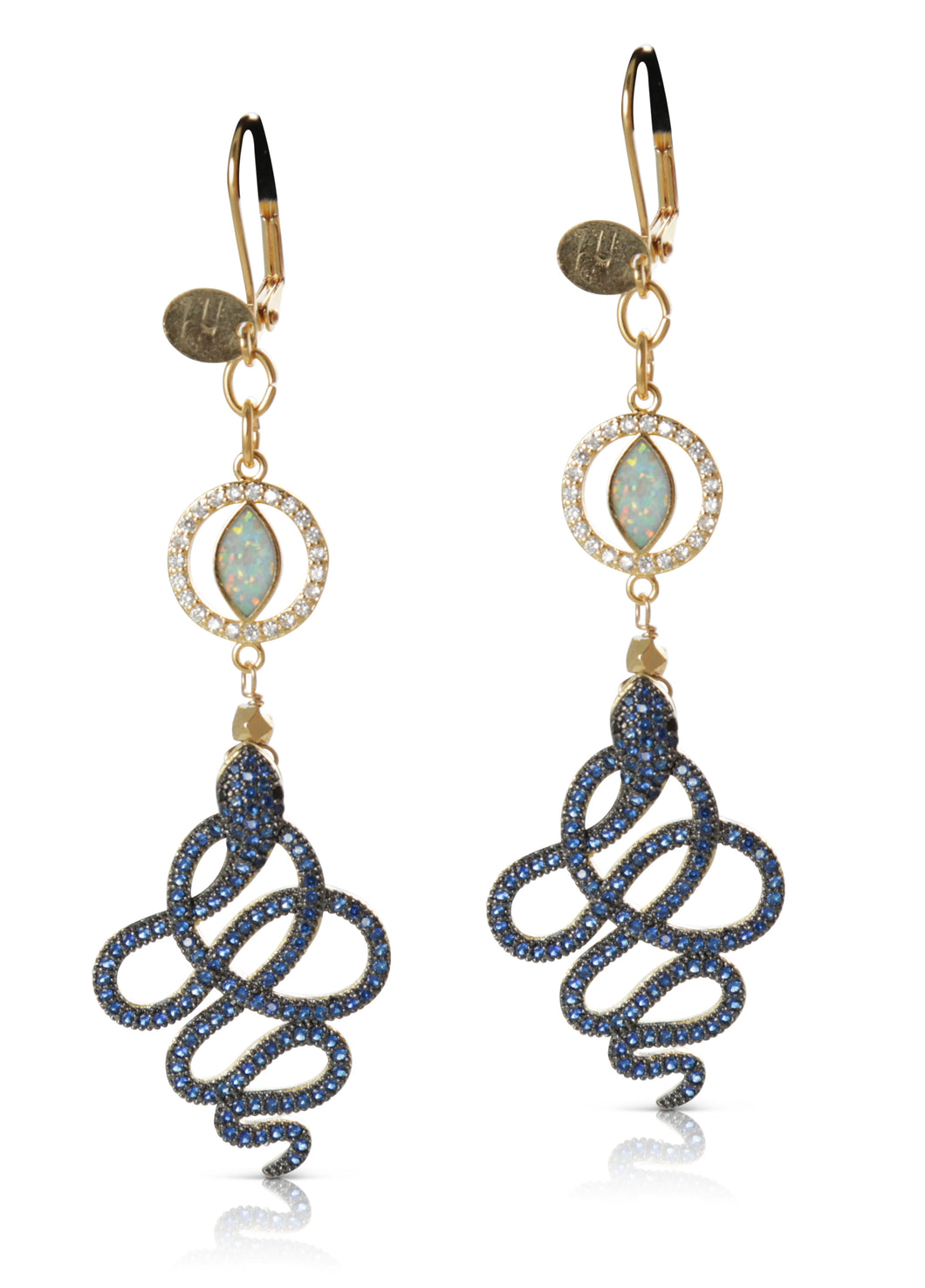Sally Blue Crystal Earring