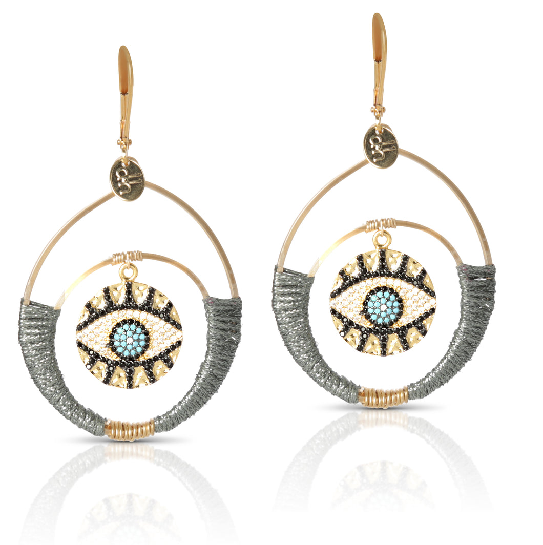 Eye See You Gunmetal Earring