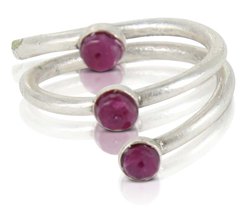 Allegent Silver Ruby Ring
