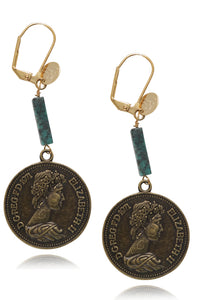 Braggs coin earrings