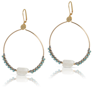 Dovie Moonstone Earrings