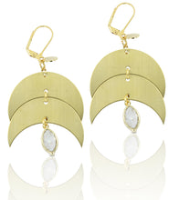 Mondaki Gold & White Druzy Earrings