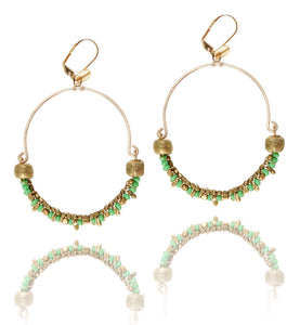 Rebecca lime earrings