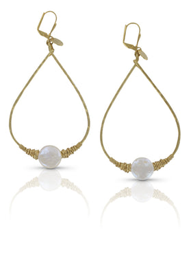 Talitha white pearl earrings SM