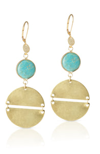 Trindal turquoise earring