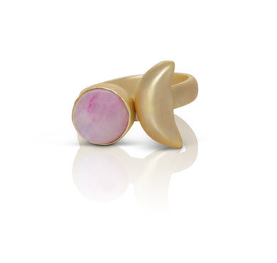 Astra light pink Opal Ring