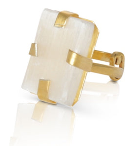 Olivia Selenite ring