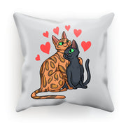 Valentines Day Cat Love Cushion