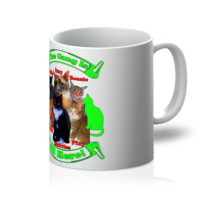 The Gang Is All Here 6 Cats Mug