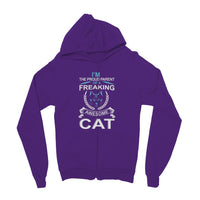 I'm The Proud Parent Of A Freaking Awesome Cat Kids' Zip Hoodie