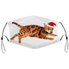 Christmas Bengal Cat Face Mask