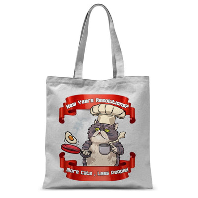 More Cats Less People Sublimation Tote Bag