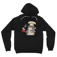Persian Cat Cook Fleece Pullover Hoodie