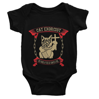 Cat Exorcist T Shirt Baby Bodysuit