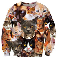 Multi Cuteness Cat 3-D Sweater