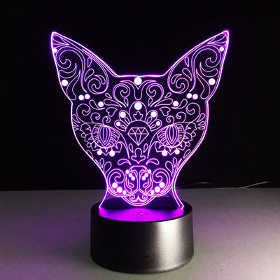 7 Color Change Cute Cat LED Night Light