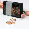Rose Gold Cat Paper Clips