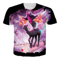 3-D Pizza Cat And Laser T Shirts