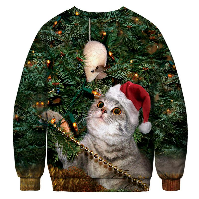Collectible Christmas 3-D Cat Sweaters