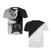 White And Black Cat T-shirt