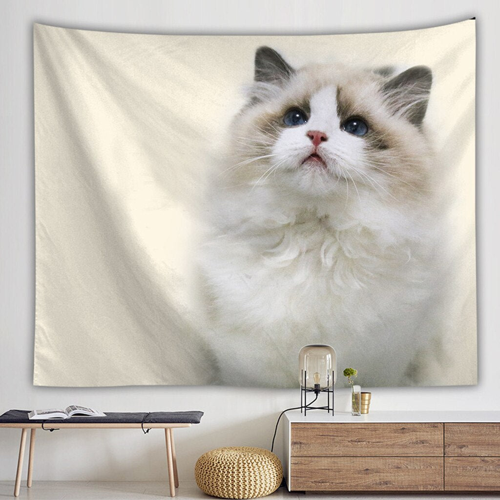 Ragdoll Unconditional Love Cat Tapestry