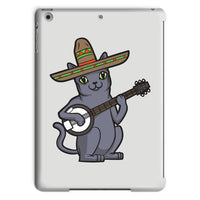 Russian Blue Sombrero Banjo Cat Tablet Case