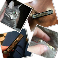3 in 1 Engraved Cat Collar Reflective ID Tag