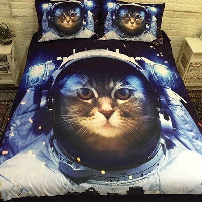 Space Kitty Bedding Duvet Cover Set