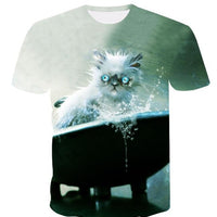 3-D Cute Cat T-shirts