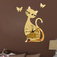 3D Home Decor Cat Clock