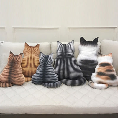 3D Printed Cat Back Cushion Plush Toy