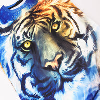 Vibrant 3-D Tiger Hooded Sweatshirt