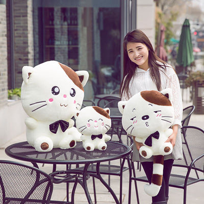 Lovely Big Face Smiling Cat Plush Toys