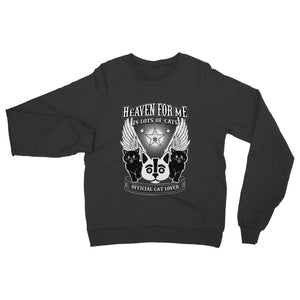 Heaven For Me Is Lots Of Cats Womens Sweatshirt