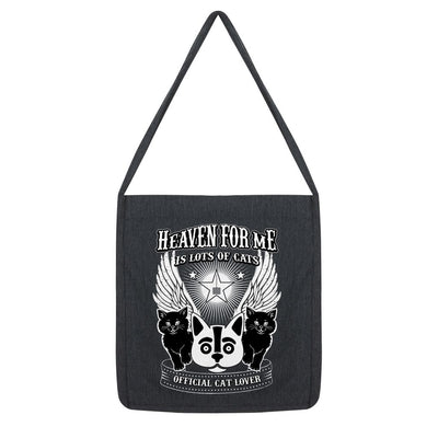 Heaven For Me Is Lots Of Cats Tote Bag