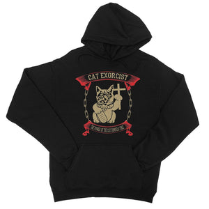 Cat Exorcist T Shirt College Hoodie