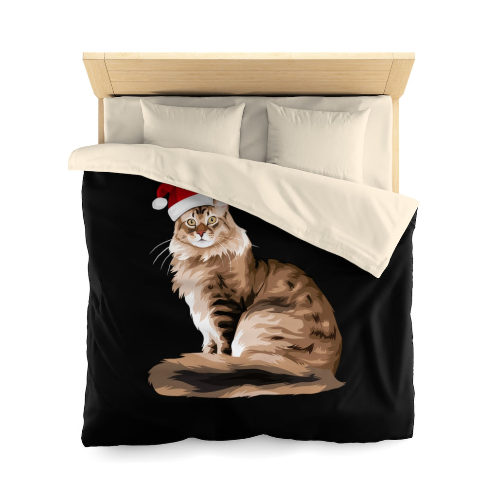 Maine Coon Christmas Duvet Cover Set
