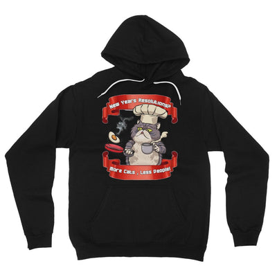 More Cats Less People Fleece Pullover Hoodie